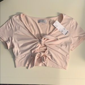 NWT Urban Outfitters Double Tie Cropped Top